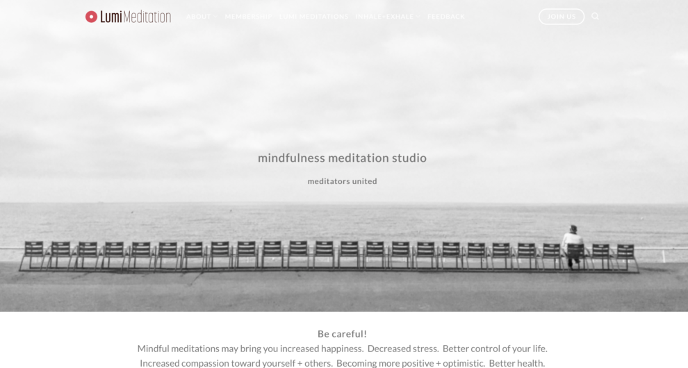 LumeMeditation.com is an online meditation studio.