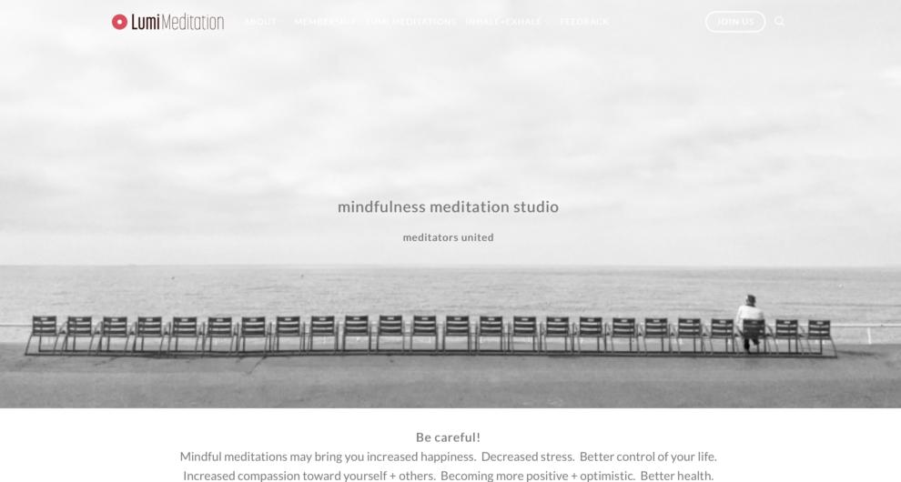 LumeMeditation.com is an online meditation studio.